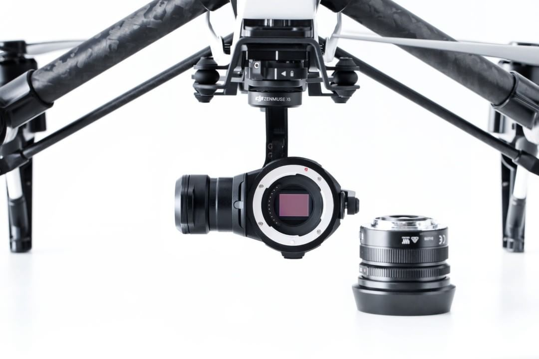 Did we mention that the lens can be changed?  The #DJI #Zenmuse #X5 will support 4 interchangeable lenses, including the DJI MFT 15mm f/1.7 ASPH lens, Panasonic Lumix 15mm G Leica DG Summilux f/1.7 ASPH lens, Olympus M.ZUIKO DIGITAL ED 12mm f/2.0 lens,...