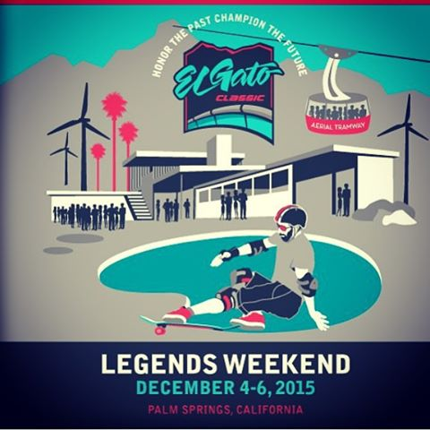 @eddieelguera 's #elgatoclassic going down Dec 4-6th in Palm Springs ! #honorthepastchampionthefuture #skatelegends #skateboarding #eddieelguera