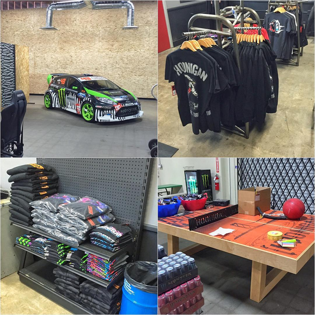 "While I was at @TheHoonigans' Donut Garage today, half their squad was preparing for the grand opening of the ""Hoonigan Bakery"", their new in-house retail store. Good to see it starting to take shape before the launch this Saturday...."