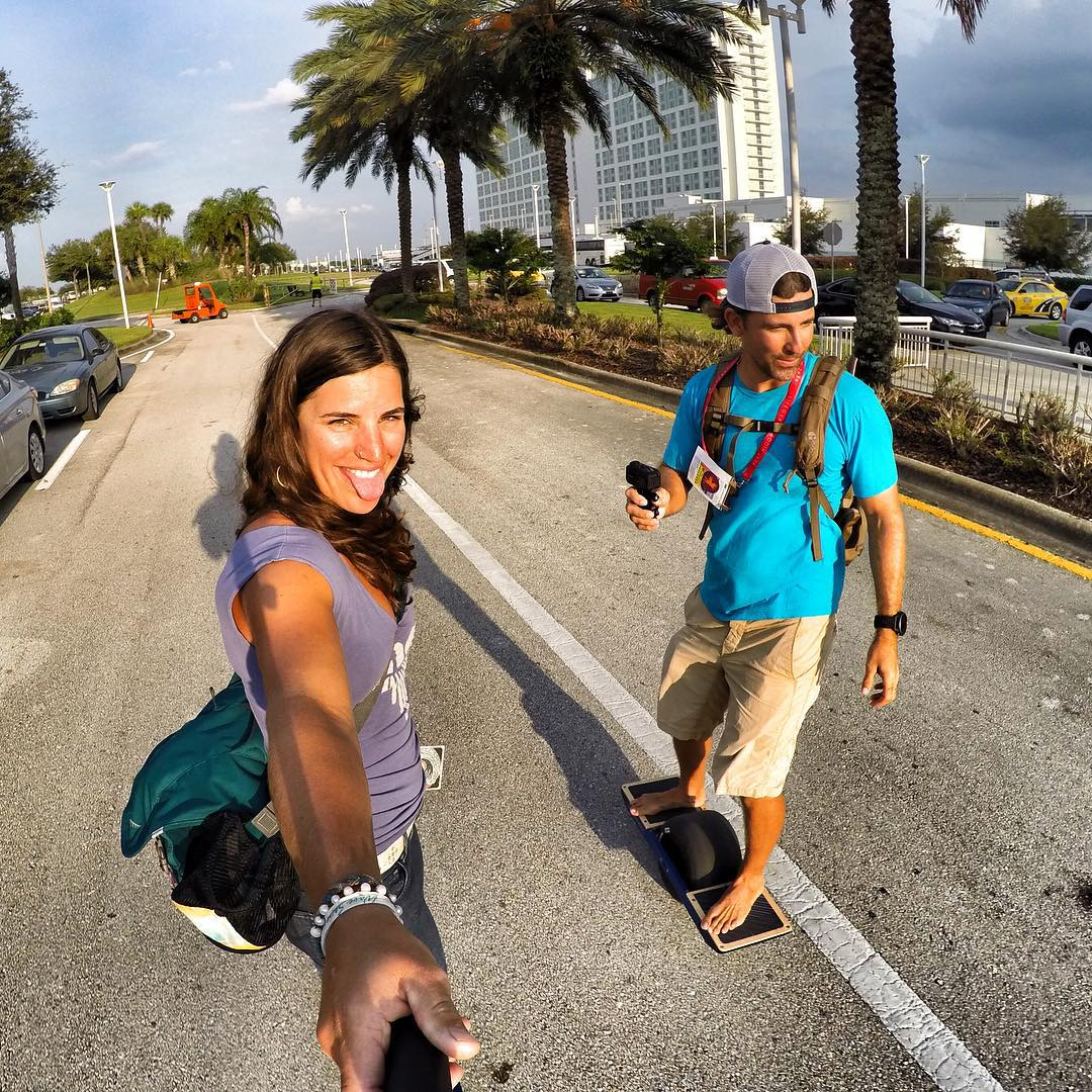 Drivers Ed in Florida... @rideonewheel style. Learning the basics, and riding around town with teammate @grayoutdoors #rideonewheel