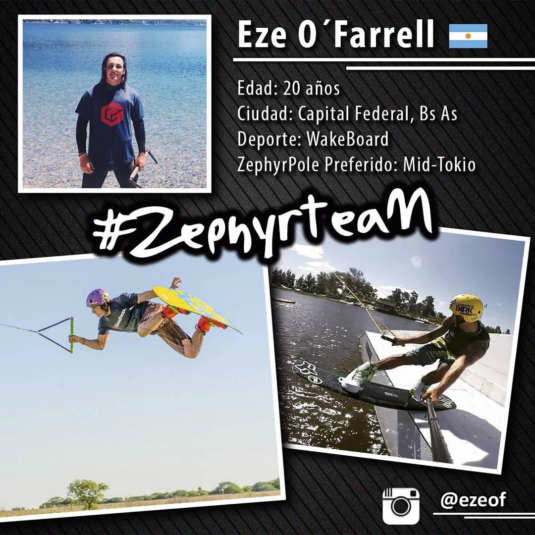 @ezeof, Wakeboarder de #Argentina, bienvenido al #ZephyrTeam!
