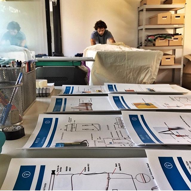 Sail cutting at our studio in Buenos Aires. New bags being made for the people in South America// We are proud to have our own team working for their regional market. #fromsailstobags #bthechange
