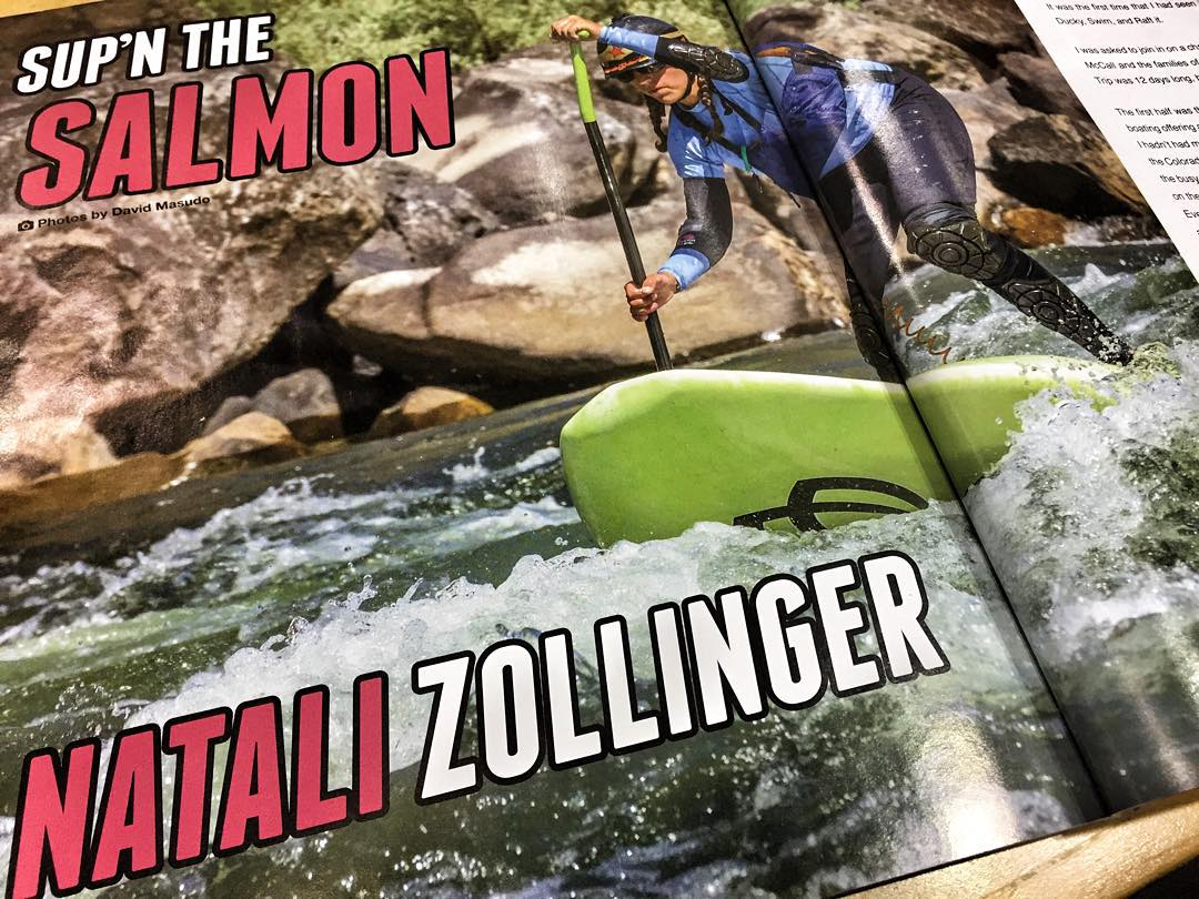 Wow what a treat to come back from Alaska and see THIS 2 page spread in the new issue of @boardersmag of SUP'n the Salmon!  Thanks @dannybraught and Tyler Marshall for all your creativity and talent translating through this magazine!  Thanks to David...