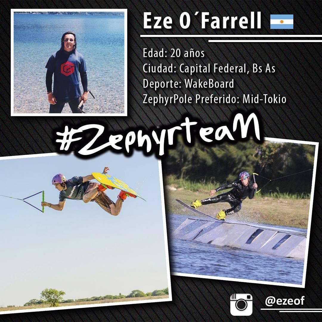 @ezeof, Wakeboarder de #Argentina, nuevo integrante del #ZephyrTeam!