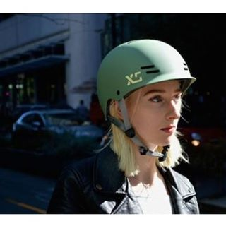 Pic from our latest cycling shoot in downtown #vancouver. We're all set for the @interbike show in #lasvegas next week so stop by booth #10081 if you're attending! #xshelmets #bikeculture #skylinehelmet #cyclechic #bikehelmet #commuterlife #interbike2015