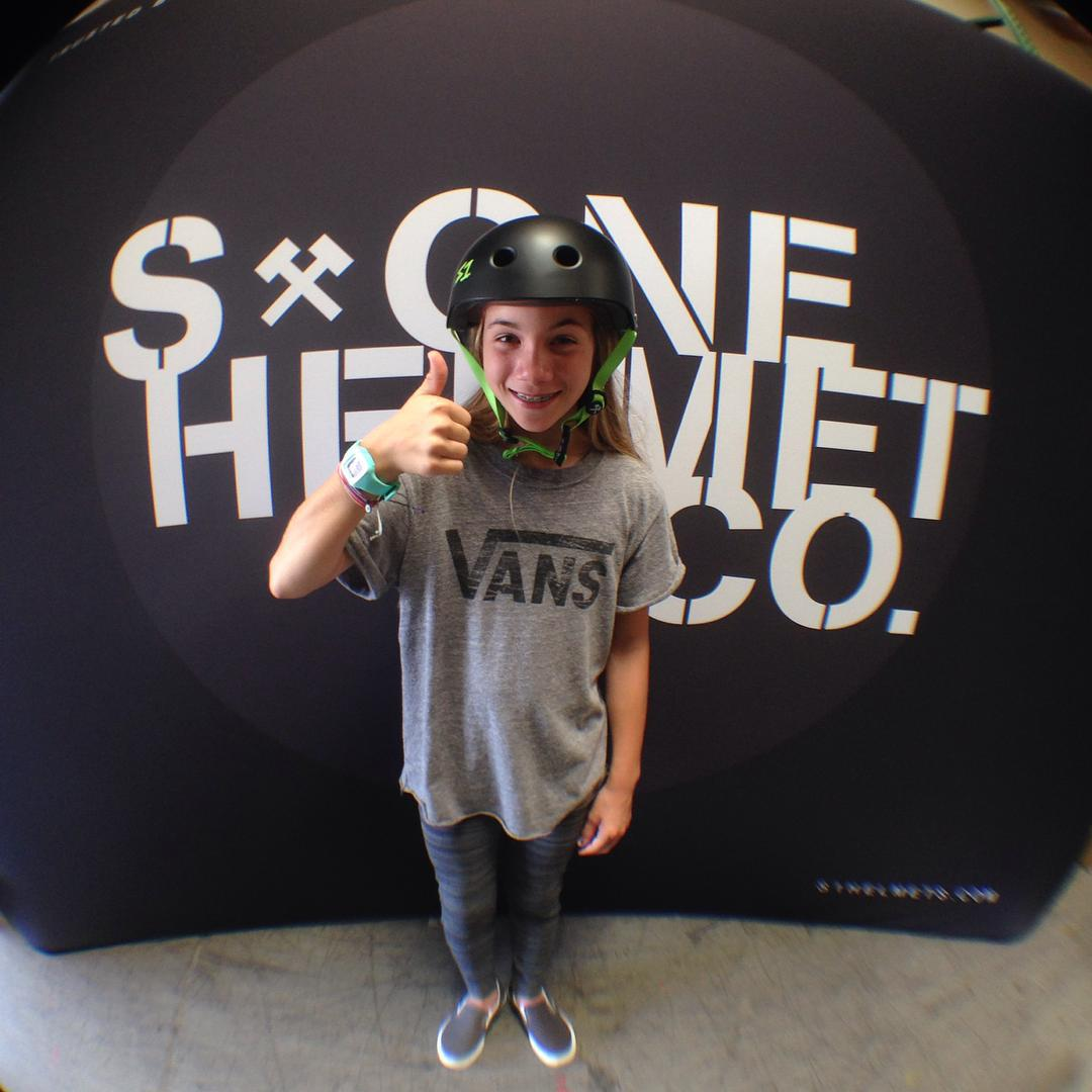 @brightonzeuner stopped by the S1 warehouse today to pick up some fresh Lifer Helmets.