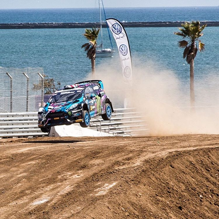 2nd fastest in practice here at #GlobalRallycross LA - awesome. Worked all morning for a solid car setup for this track with my @HooniganRacing team, stoked at where we're at now. Qualifying is up next. #airtimeisagoodtime #losangeles