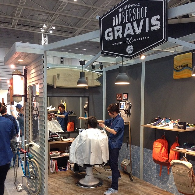 @AbranAbeyta lead designer, getting lined up at the @gravis booth at #InterstyleShow. #Japan