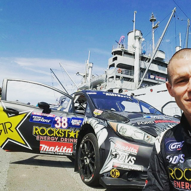 Had a good day at #GRC #rally .  A lot of fast cars. Qualified in the top 5.  Getting better on pavement. Racing sat and sun. Will be live on NBC. Finals around 3p . @rockstarenergy @ford @makitatools @dvsshoes @mickeythompsontires @kchilites...