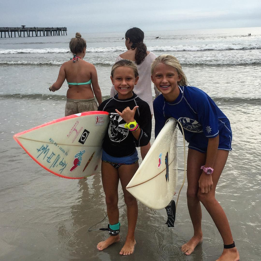 Luv surfers @breesmithsurfer and @tybeeanna are in the water!! #team #luvsurf #surf #shred #yew #sos #surfclassic
