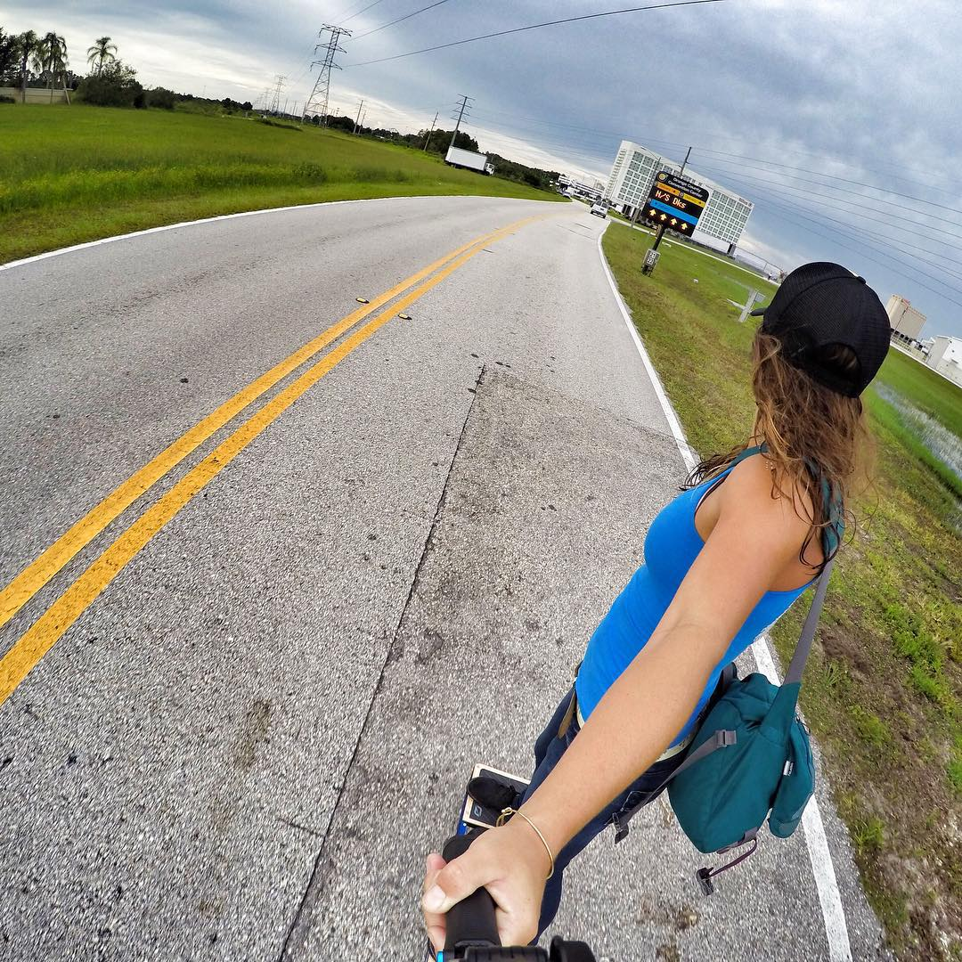 Morning commutes on the @rideonewheel. #walkingisdead #rideonewheel @gopro