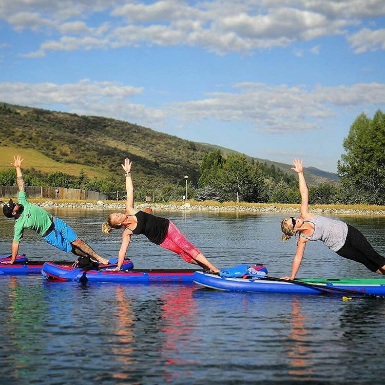 #Repost from @yoga_snow_love ・・・ What a wonderful summer on the lake with the Hala boards. Truly the perfect SUP for all of us Colorado peeps. We can be on the lake, the Hala Straight Up, Atcha, and Hoss are ideal for yoga, we love to travel the river...