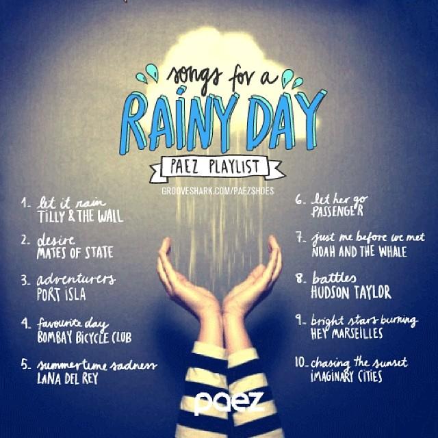#wemusic para los dias de lluvia, para los dias que se sienten como lluvia y para los eternos nostalgicos www.play.spotify.com/user/paezshoes #Paez #music #play #listen #rain #nostalgic #feel