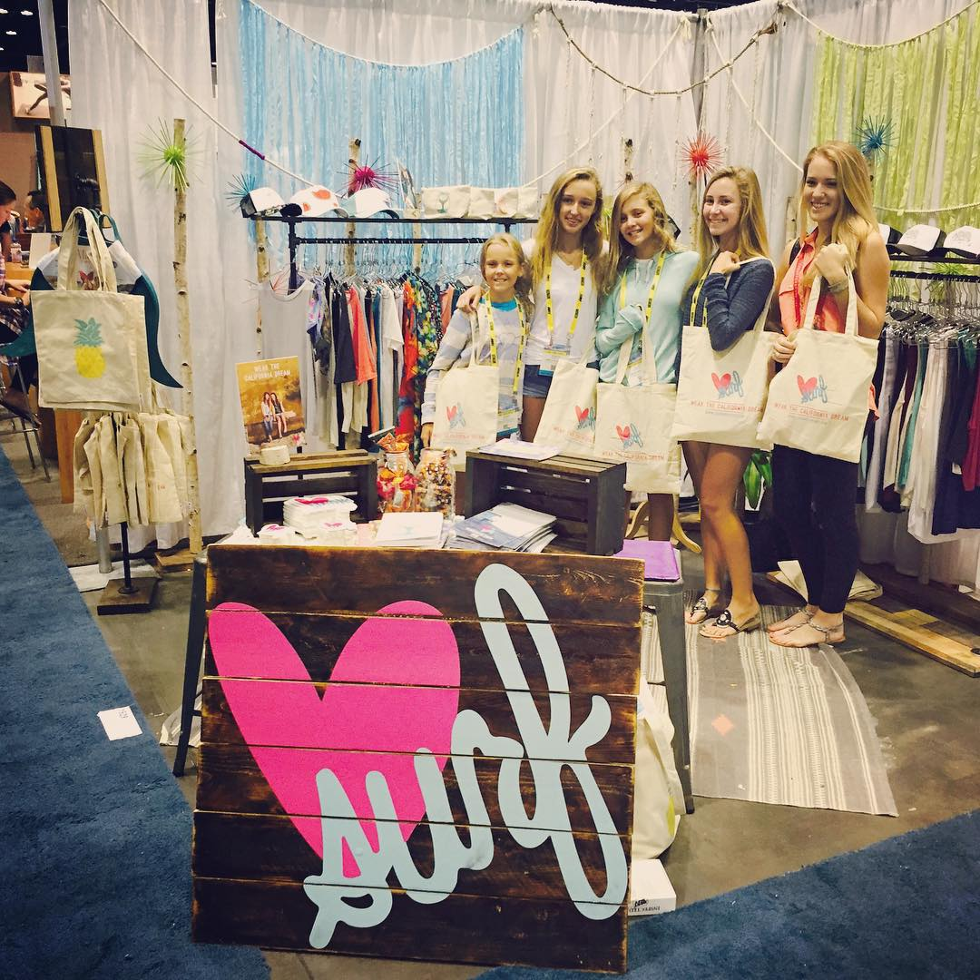 Surf Babes and Surf Expo #luvsurf #surfexpo #booth1529 #surfexpo2015 #surfbabes #beachbabes #freetote