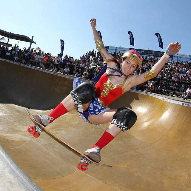 Yes, Wonder Woman skates. Photo by JTP John Harle.