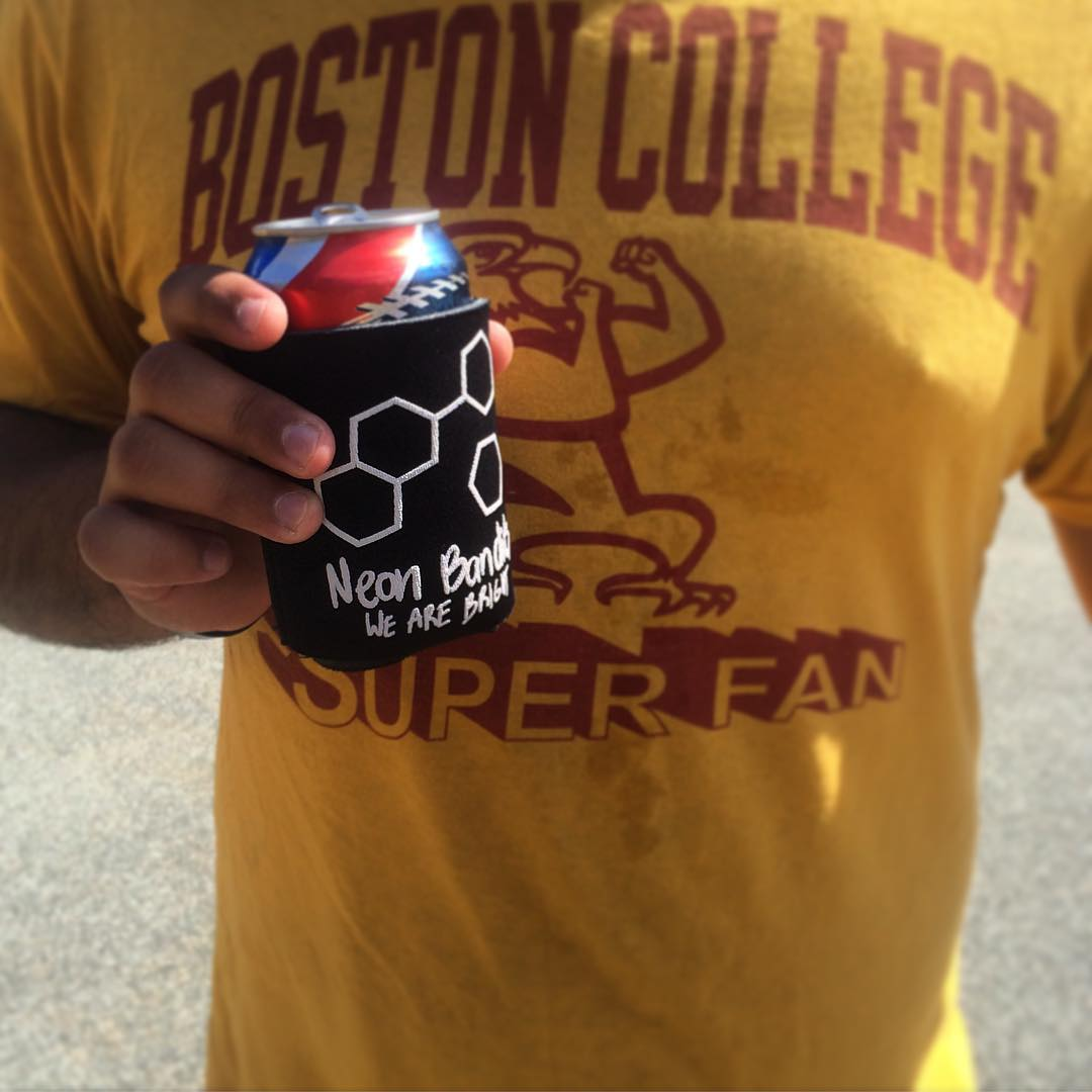 Seasons greetings. #football #collegefootball #tailgate #goeags #neonbandits #wearebright #brolife #darty #bostoncollege