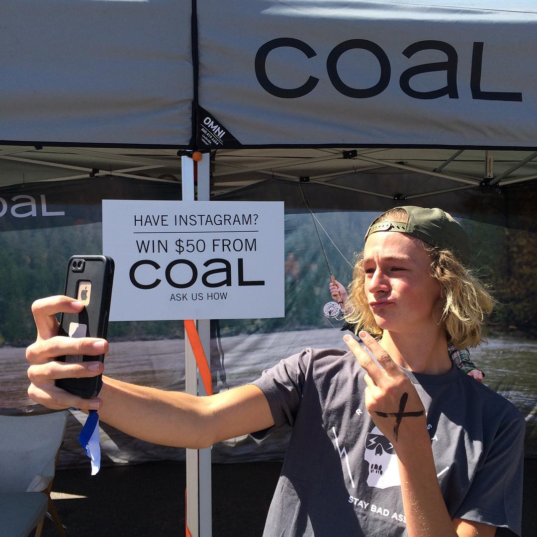 If you're at Snowboard on the Block in Denver, Co, swing by the Coal tent for a chance to win $50! #coalheadwear