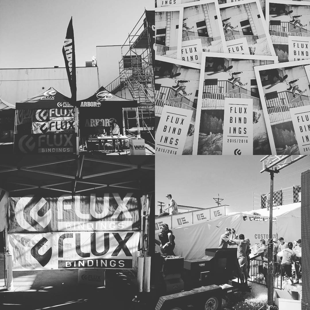 Come check out the #FluxBindings booth at the @BlockFestival out here in #Colorado! So many people out here for the pro rail jam starting soon. Keep an eye out for @erikleon_ and the two-time winner @scottyvine in the jam. #snowboarding #winterparty...