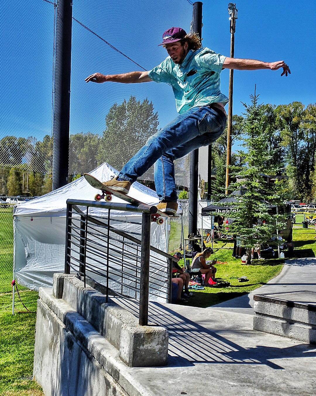 @skateswithfeathers kicks off the finals of the #wildwestskateboarding contest series here in #jacksonhole. Come out and support the kids! #avalon7 #liveactivated #skateboarding www.avalon7.co