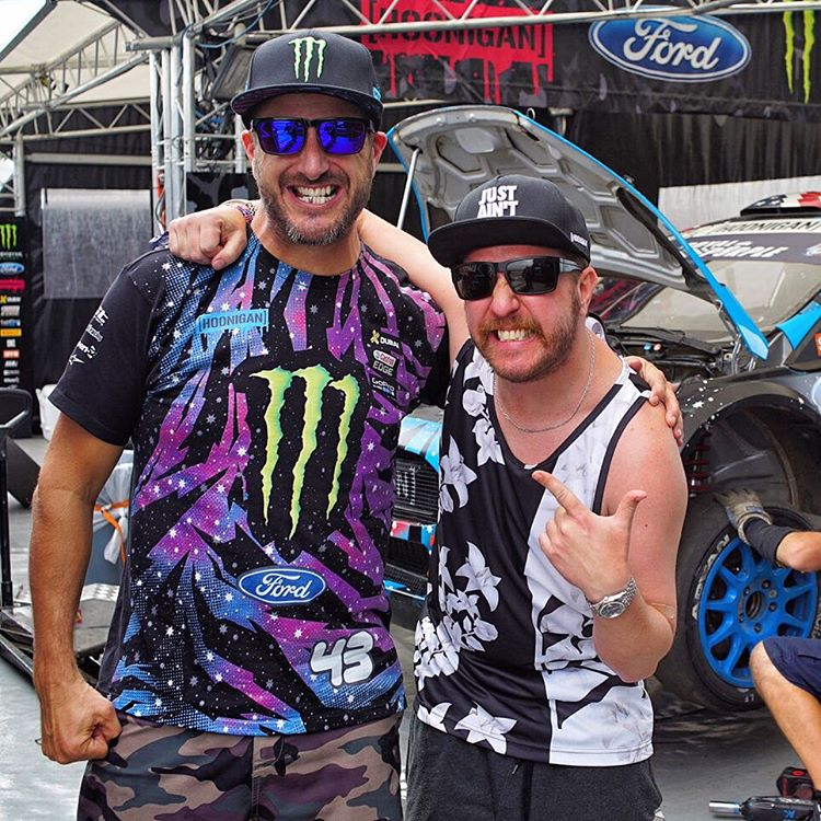 Even on a bad day, @realnickswardson and his wild sense of humor makes me smile. Ha. Great to see him out here at #GlobalRallycross LA. #professionalfartjokes