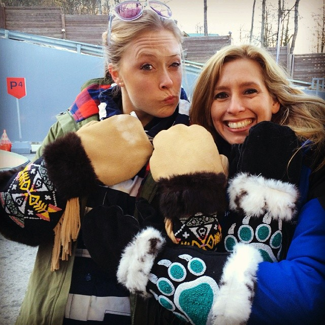 US #Olympic @weatherchannel correspondents @kaylinrichardson and @stephanieabrams hanging out in #Sochi!