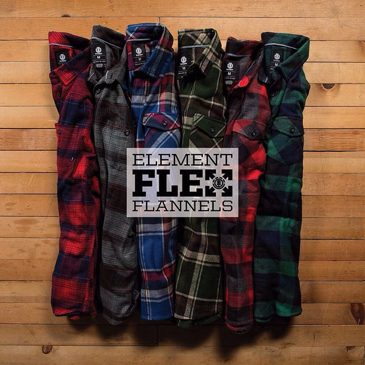 """Ride Without Restrictions"" Element Flex Flannels are now available in an array of colors at ElementBrand.com >>> Link in Bio #ElementFlex"