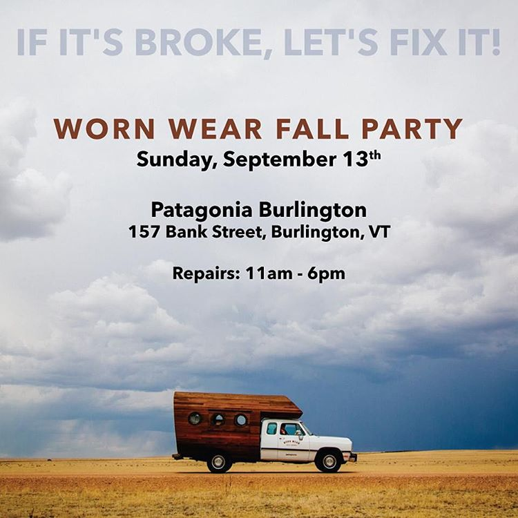 Need your @patagonia gear threaded up? Join us today at @patagoniabtv to hang with the @wornwear crew! #BetterThanNew #BTV