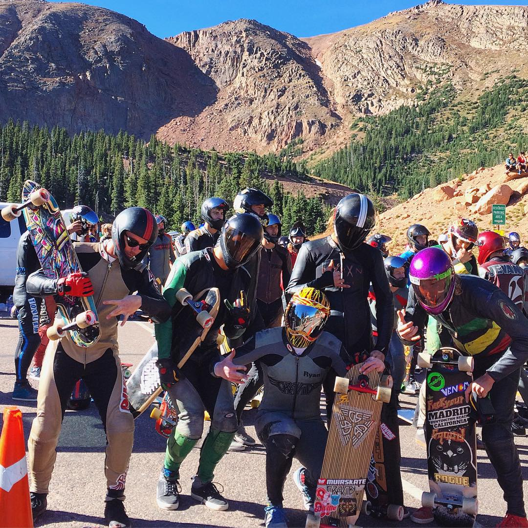 Practice and qualifying went off yesterday at the #pikespeakworldcup2015. Today's race day and the crew is hyped!  #pikespeakworldcup #onthewatchforthesquatch  #divinewheelco #divinewheels