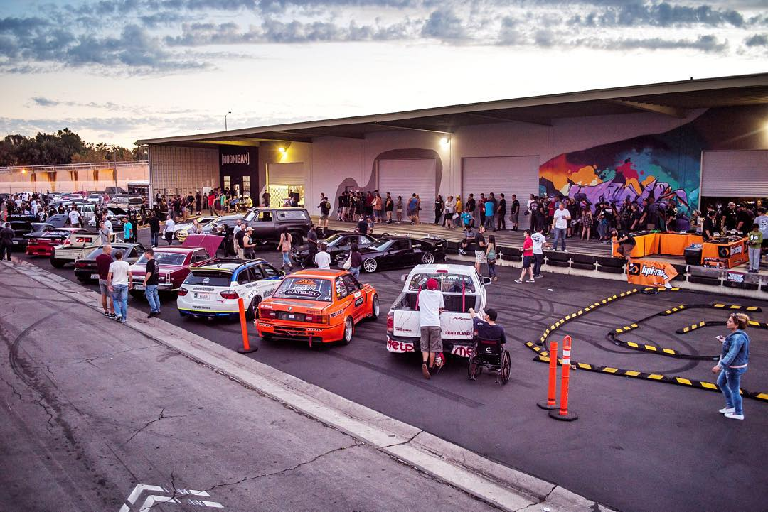 "Last night @TheHoonigans threw a fun event for the opening of the ""Hoonigan Bakery"", a retail store at their headquarters in California. Good BBQ, good friends, dope cars, an HPI Racing RC car drift course - and of course some quality mayhem by night's..."