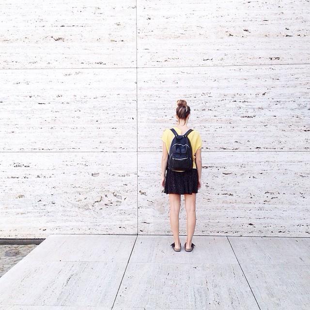 Mochila Mini Navajas negra / Pabellón de Mies / www.mambomambo.com.ar  #bcn #españa #travel #backpack