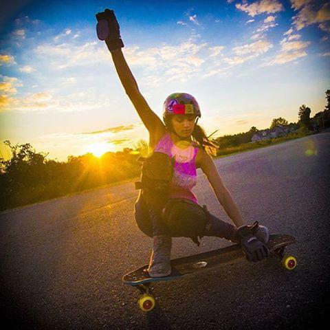 @mckaywilsonskate charging! Repost from @orangatangwheels. @tgobs603 photo.  #longboardgirlscrew #womensupportingwomen #skatelikeagirl #lgc #micaelawilson #radwomen