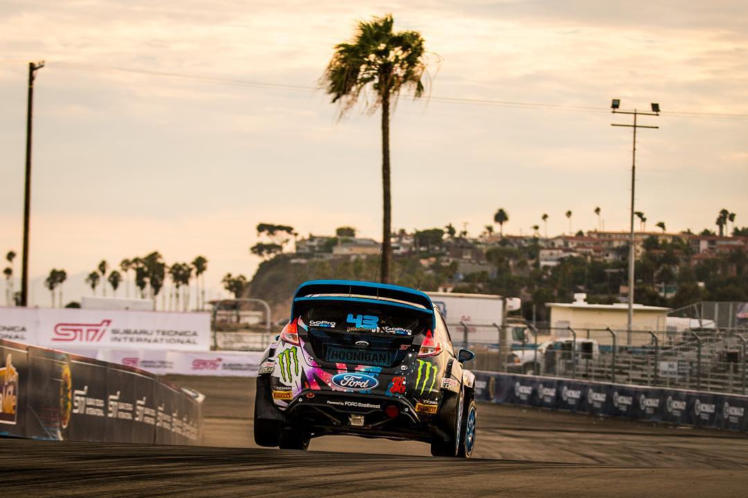 """""""HHIC @kblock stunting that three wheel motion at @redbullgrc in Los Angeles today. Be sure to catch the Final at 1pm on NBC Sports."""