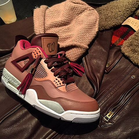 Like or no like? Air #Jordan Don customs- those laces doh!! #sneakerheads #nike #shoeporn