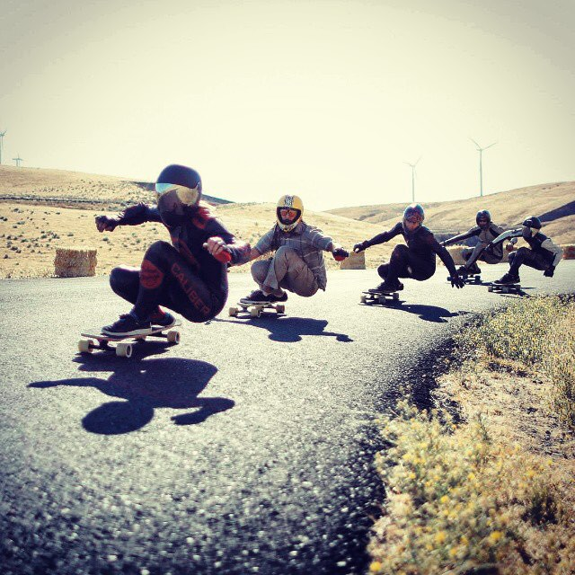 Team rider Adrian Da Kine--@adrian_da_kine taking pack runs with the homies on Maryhill!
