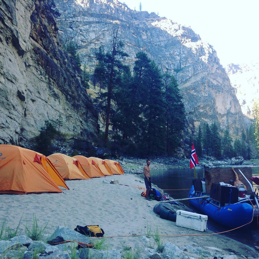 One of the #phgb team members, Ryan, had the opportunity to explore the #middlefork of the #salmonriver for 8 days this past week! What a lucky guy!!! #swamping #river #camping #tents #sweepboat