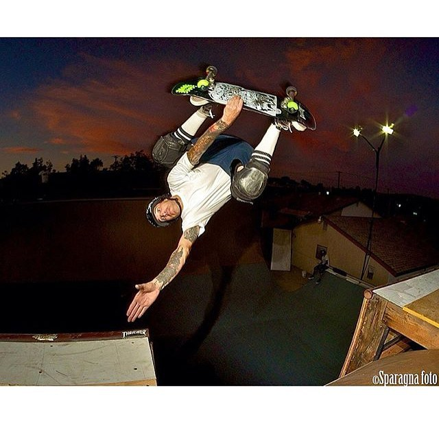 @sparagram photo of @navs5000 at the Ramona ramp last October . #invert #overthechannel #skateboarding