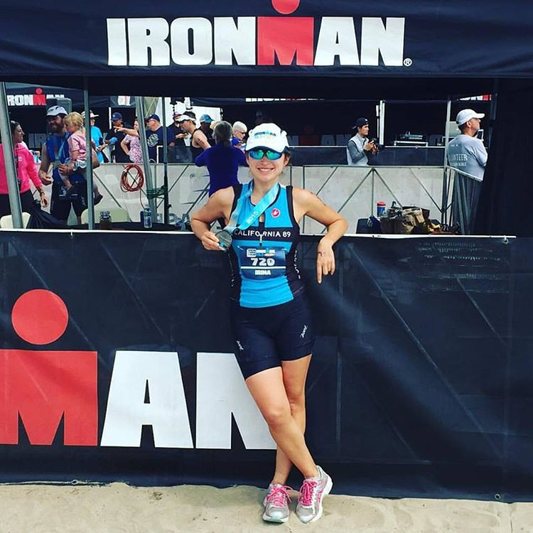Congrats to Irina Lo for posting an awesome time of 6:15 at the #SantaCruz #Ironman. Amazing accomplishment! Looking good in the #CA89 tri fit too!