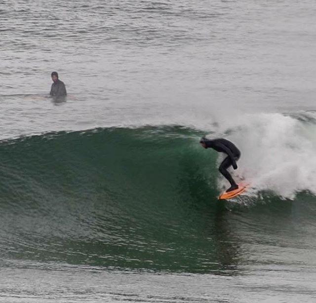Primera sesión en Tierra del Fuego.  Julian en primer plano y Joaquin en el fondo. #peninsulamitre #tierradelfuego