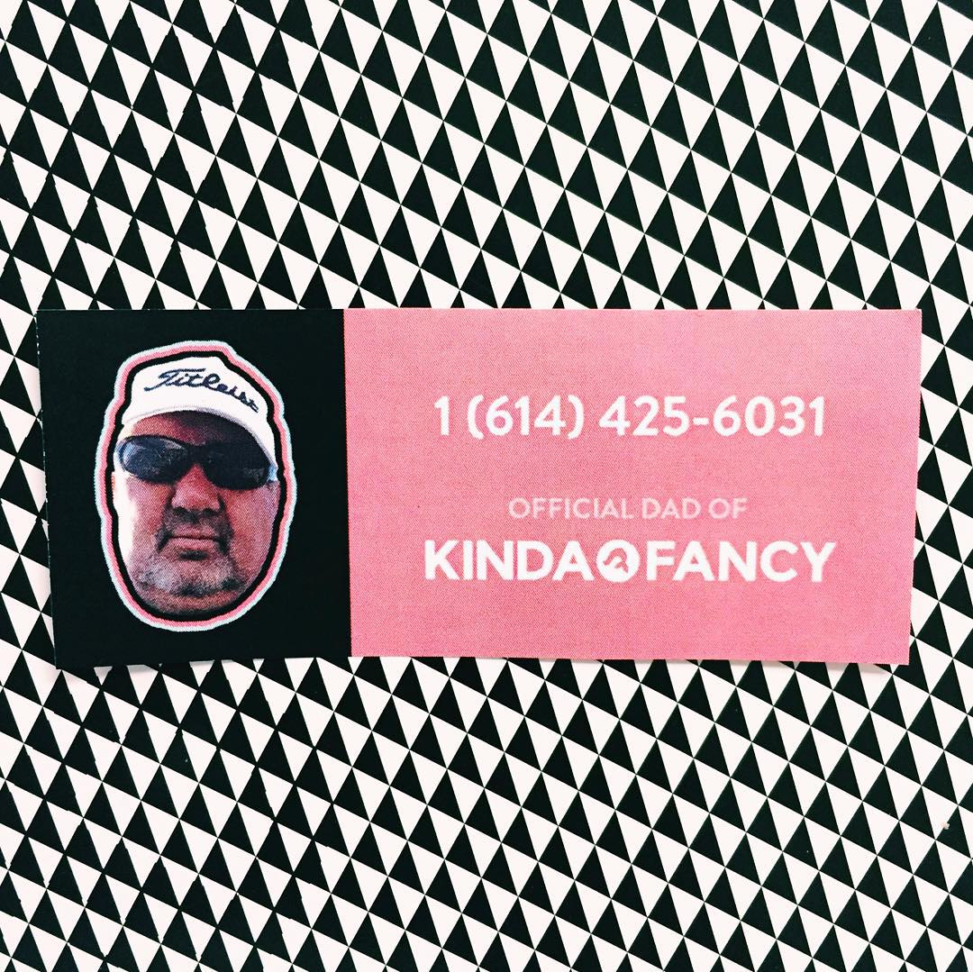 By popular demand, we are releasing our dad's digits. He's a super nice guy, but please make sure to call before 9. #officialdad #kindafancy #heknowshowtotexttoo