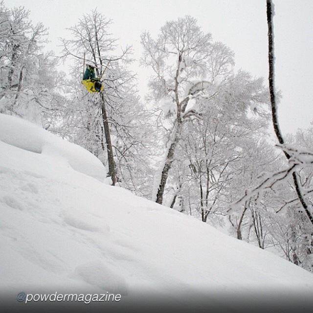 "Panda's Drew Tabke gettin' a little love from POWDER during his current deep snow recon mission in Japan... Repost from @powdermagazine: ""Less than 12 hours after arriving in Sapporo for his first ski trip in Japan, @drewtabke sends and stomps a back..."