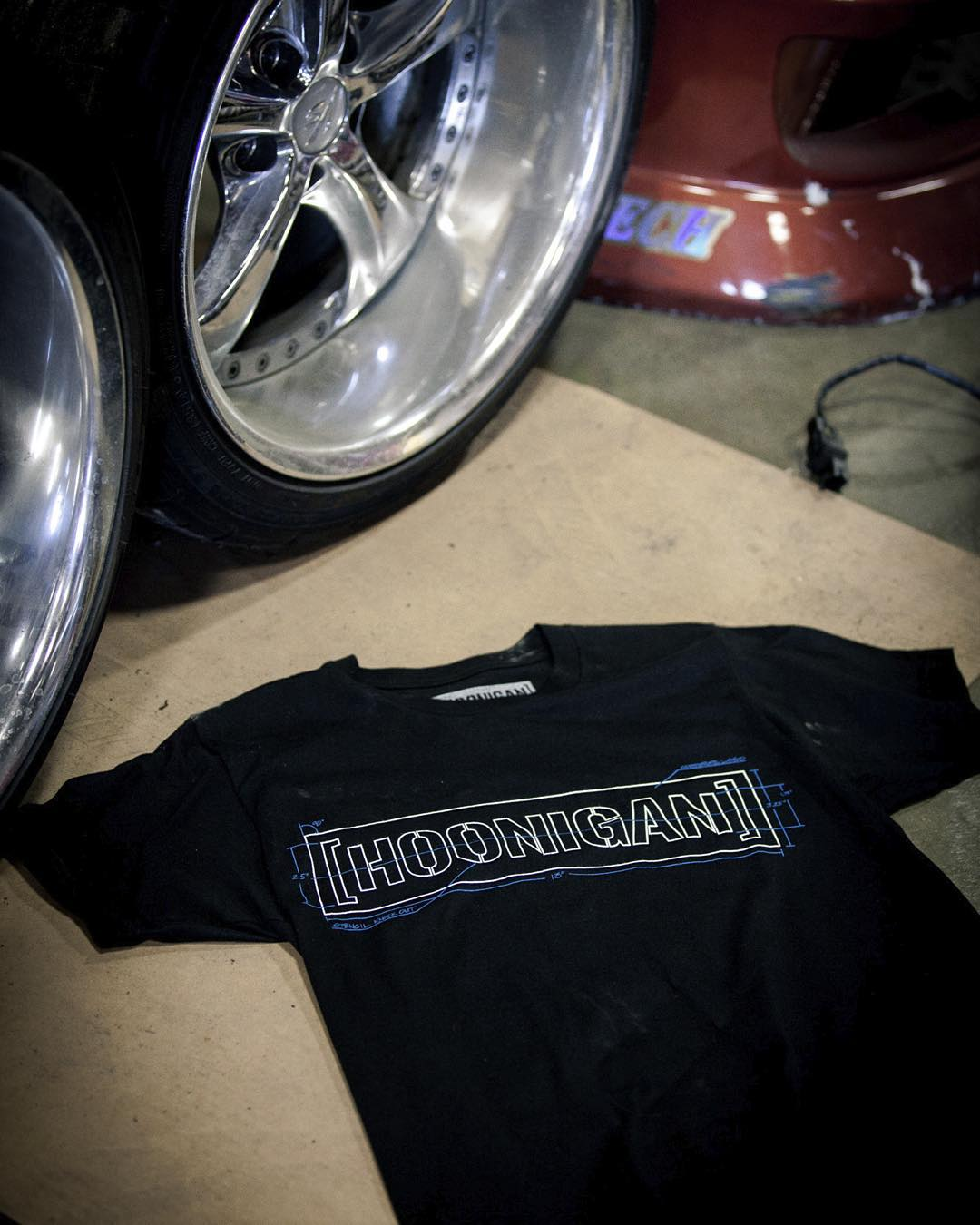 #HNGN shirts are made to get greasy. Add our Technical C-bar Tee to your dirty laundry basket by visiting #hooniganDOTcom. #HNGN