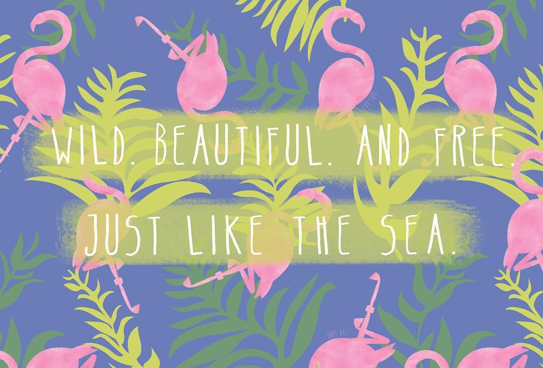 WILD BEAUTIFUL AND FREE // JUST LIKE THE SEA #luvsurf #wild #beautiful #free