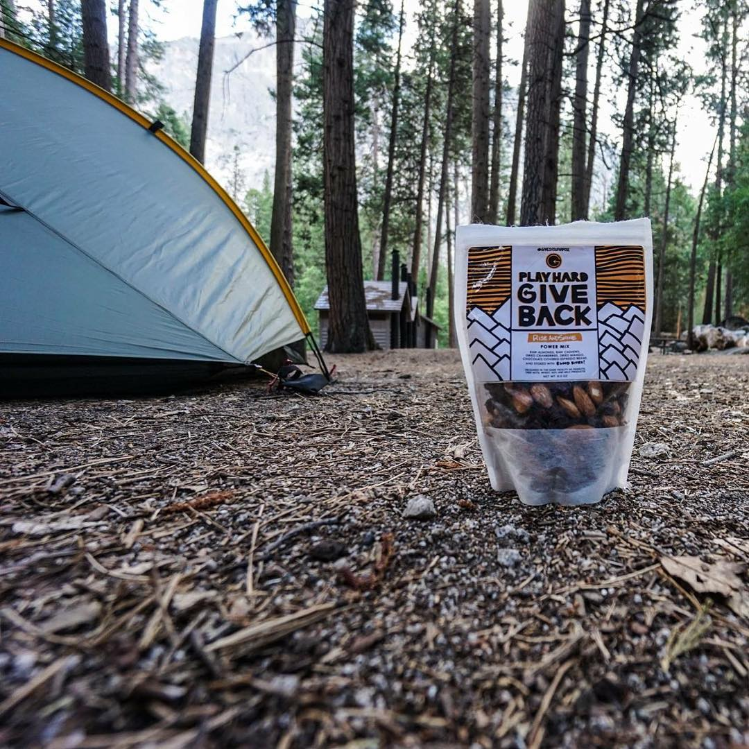 Thanks to @trailtopeak for taking this photo of some #phgb goodies on his #johnmuirtrail trip!! #trailmix #hike #healthysnacks #backpacking #sierranevadas