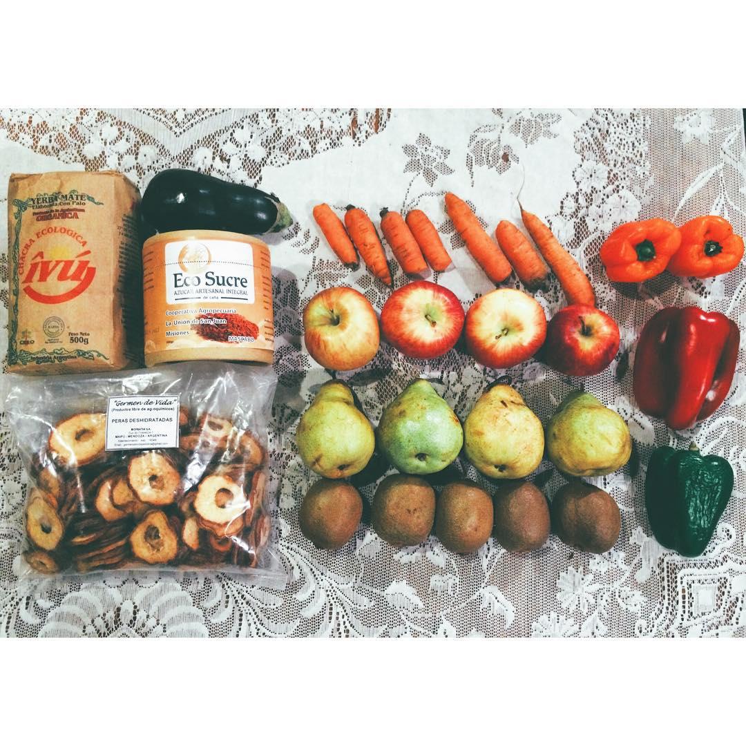 Chocha con mis productos orgánicos