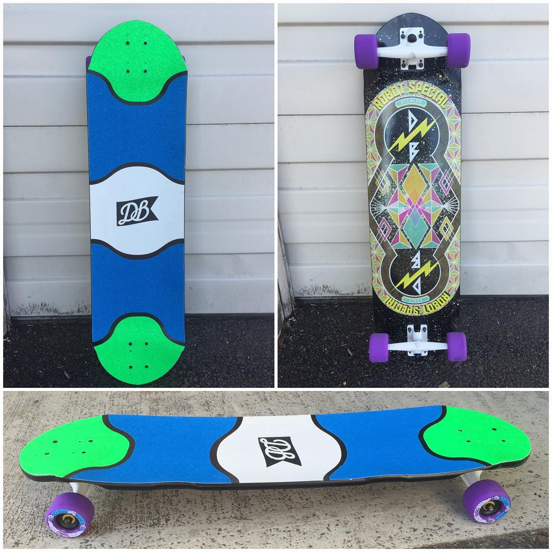 A custom Robot Special (currently 50% off). Build your own at DBlongboards.com/build