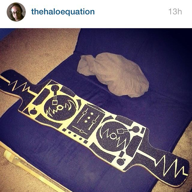 #repost on some #sick #griptape #art #longboards #longboarding #custom #freeride #downhill #grippy #turntables #dj #skatelife