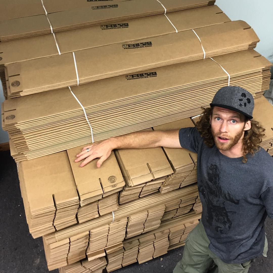 Holy boxes, SnowMan!  TanSnowMan and Bo Ferro just barely finished unloading 1000+ custom printed, 100% recycled, made in the USA, Panda Poles boxes into the Panda Dojo mere minutes ago! Wheeesh!  Each box starts at $100 and comes with a free pair of...
