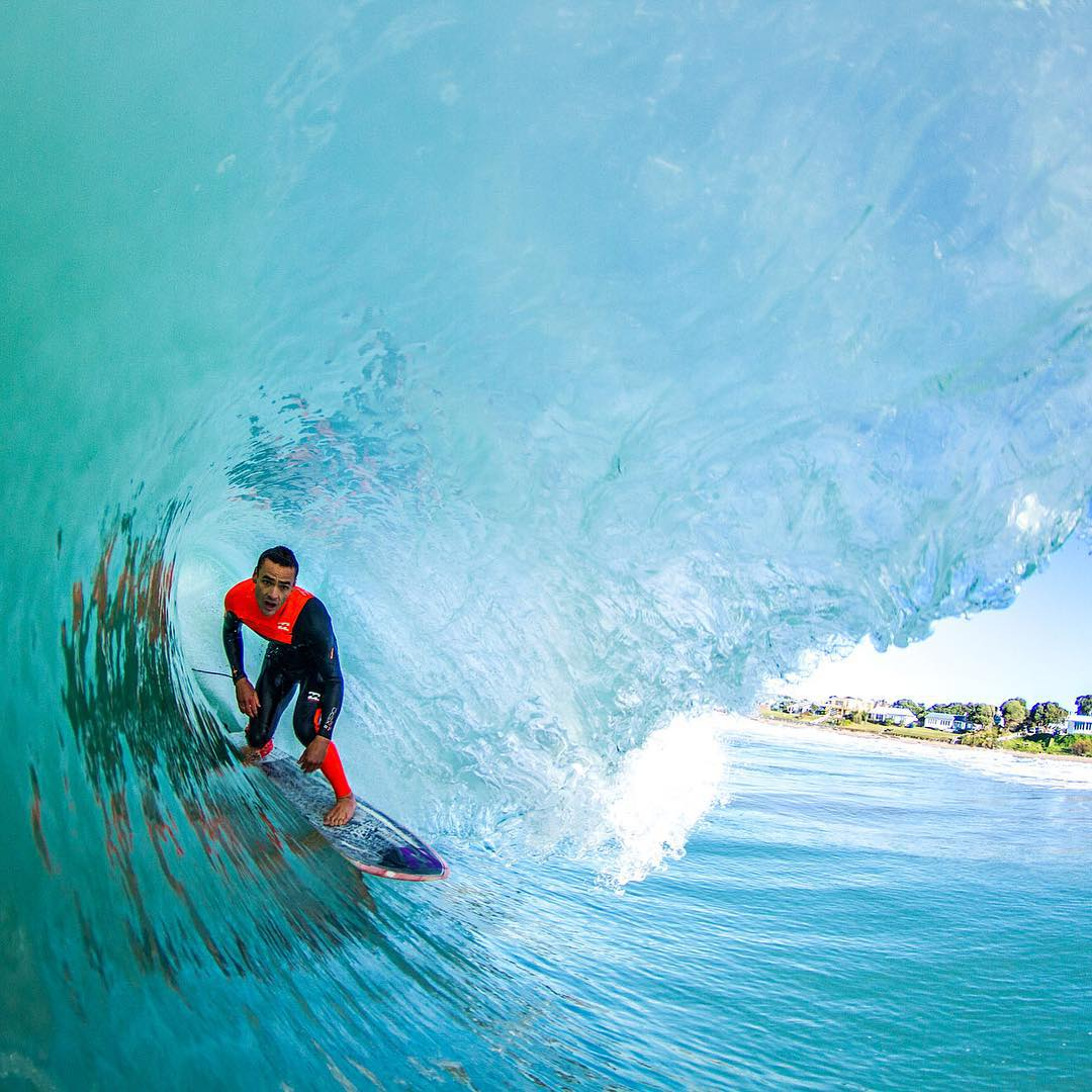 @bucky_woods driving casually in a glassy cave. @billabong_newzealand #Billlabongwetsuits