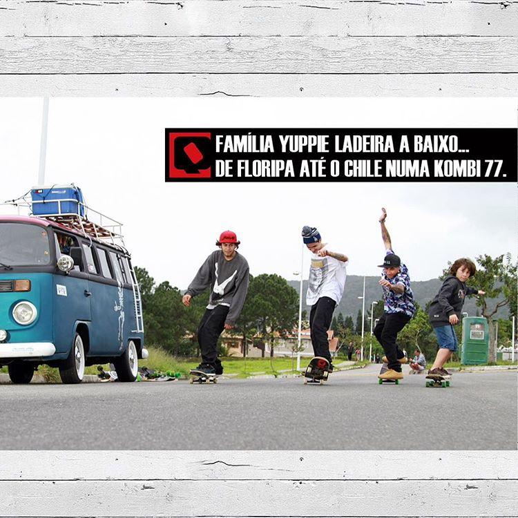 @sergioyuppie e seus três filhos já estão a caminho do Chile e vivendo altas aventuras de kombi. Confira o vídeo com os preparativos da viagem em www.qix.com.br #qixskate #qixteam #skateboardminhavida #familiayuppie