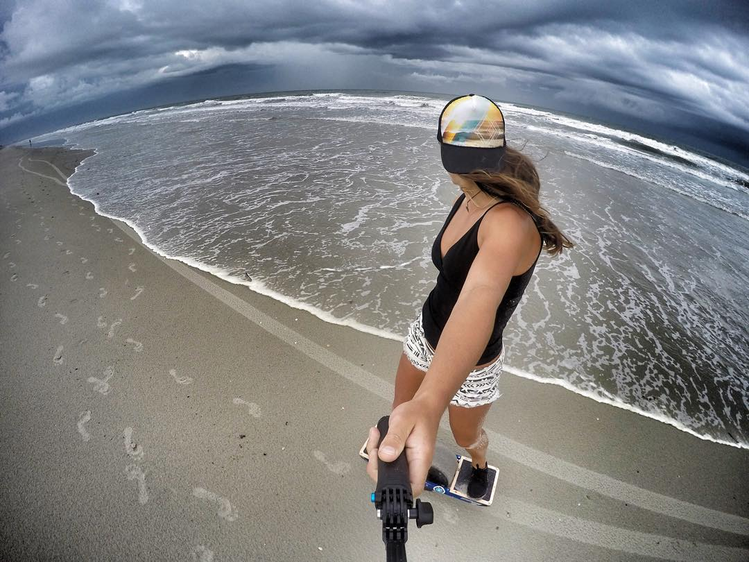 Quick Beach cruise between storms on the Florida Coast @rideonewheel #rideonewheel #rad  HAT
